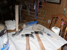 Handles must be free of all substances such as paint, glue and labels.