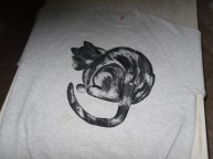Cloth painting of cat by DmK