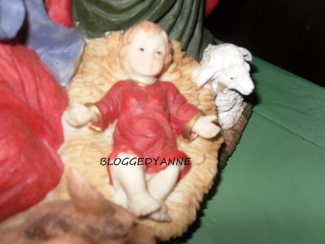 Baby Jesus and lamb