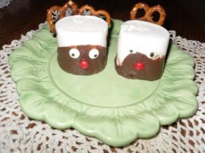 Reindeer Marshmallow treats